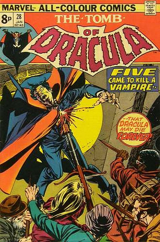 Cover of Tomb of Dracula (Vol 1) #28. One of 250,000 Vintage American Comics on sale from Krypton!