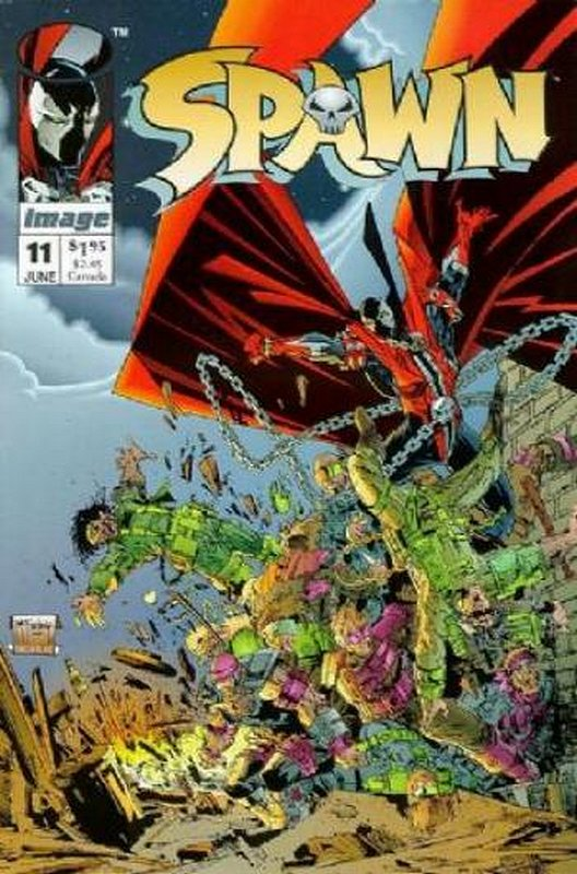 Cover of Spawn #11. One of 250,000 Vintage American Comics on sale from Krypton!