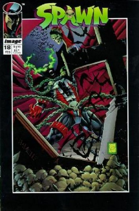 Cover of Spawn #18. One of 250,000 Vintage American Comics on sale from Krypton!