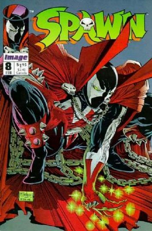 Cover of Spawn #8. One of 250,000 Vintage American Comics on sale from Krypton!