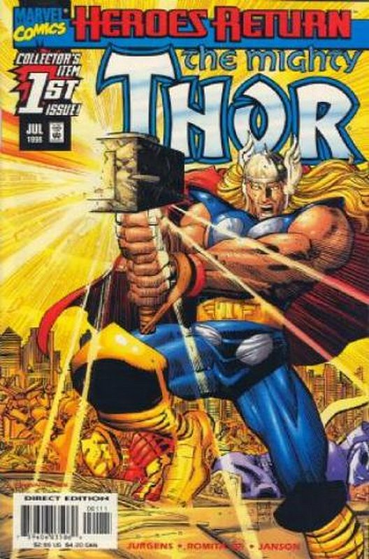 Cover of Thor (Vol 2) #1. One of 250,000 Vintage American Comics on sale from Krypton!