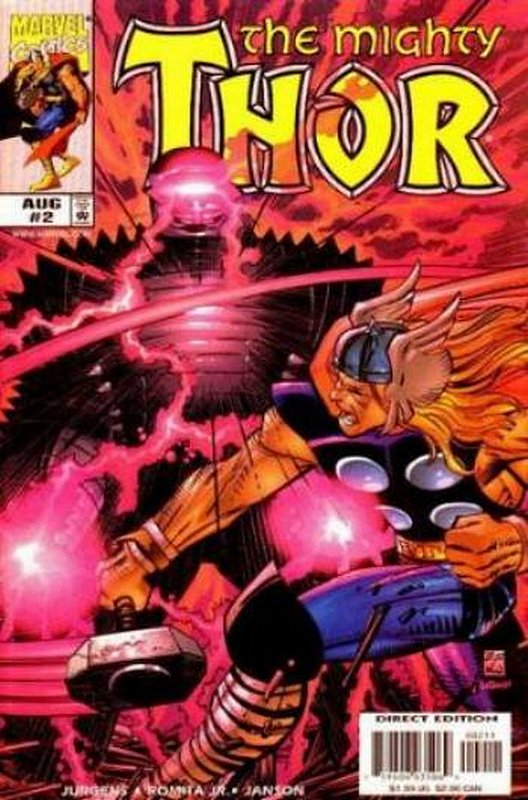 Cover of Thor (Vol 2) #2. One of 250,000 Vintage American Comics on sale from Krypton!