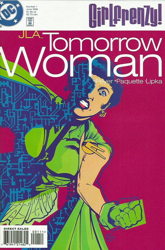 Cover of JLA Tomorrow Woman - Girl Frenzy (1998 One Shot) #1. One of 250,000 Vintage American Comics on sale from Krypton!