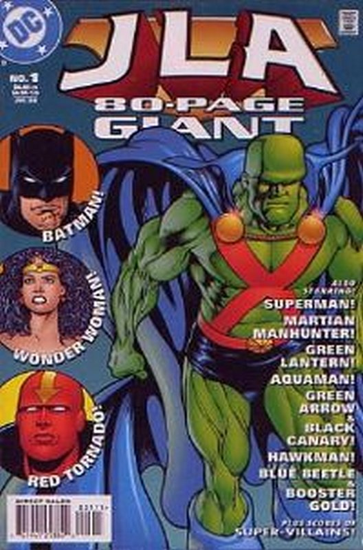 Cover of JLA 80 Page Giant (1998) #1. One of 250,000 Vintage American Comics on sale from Krypton!