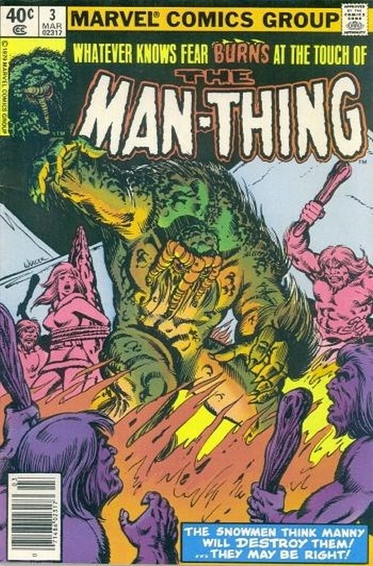 Cover of Man-Thing (Vol 2) #3. One of 250,000 Vintage American Comics on sale from Krypton!