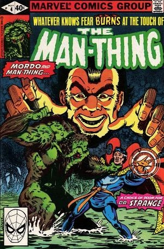 Cover of Man-Thing (Vol 2) #4. One of 250,000 Vintage American Comics on sale from Krypton!