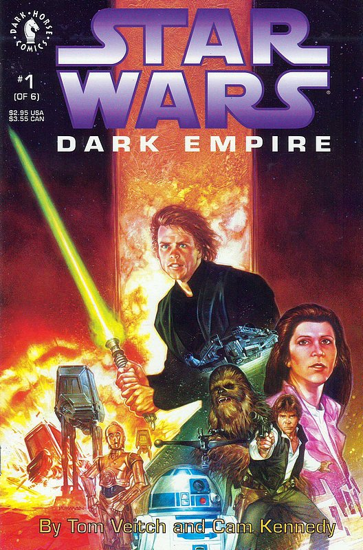 Cover of Star Wars: Dark Empire (1992 Ltd) #1. One of 250,000 Vintage American Comics on sale from Krypton!