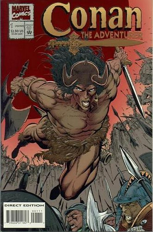 Cover of Conan the Adventurer (Vol 1) #1. One of 250,000 Vintage American Comics on sale from Krypton!