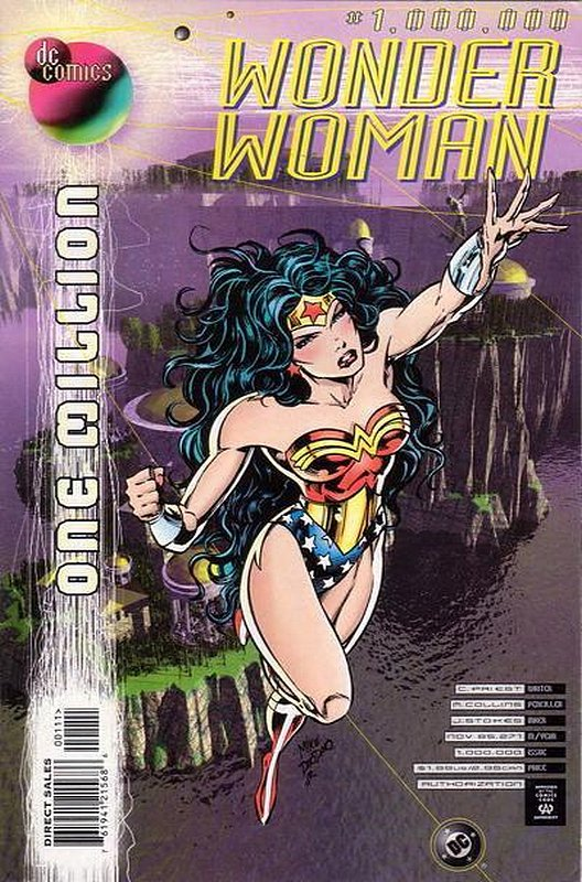 Cover of Wonder Woman One Million #1. One of 250,000 Vintage American Comics on sale from Krypton!