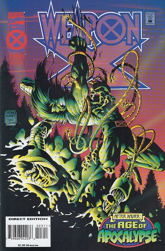 Cover of Weapon X (1995 Ltd) #3. One of 250,000 Vintage American Comics on sale from Krypton!