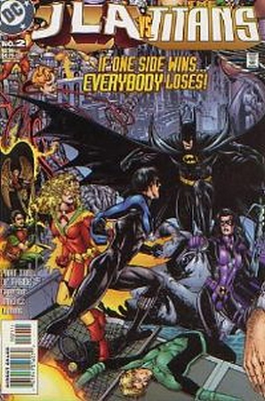Cover of JLA/Titans (1998 Ltd) #2. One of 250,000 Vintage American Comics on sale from Krypton!