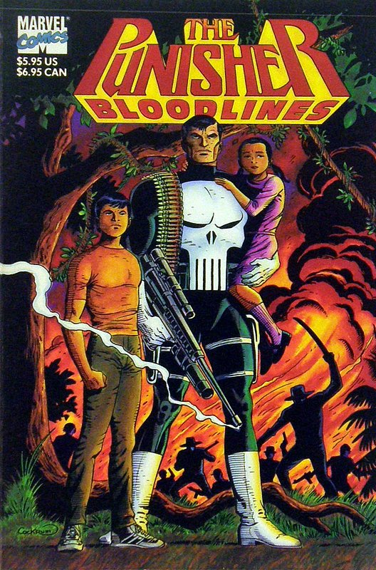Cover of Punisher Bloodlines (1992 One Shot) #1. One of 250,000 Vintage American Comics on sale from Krypton!