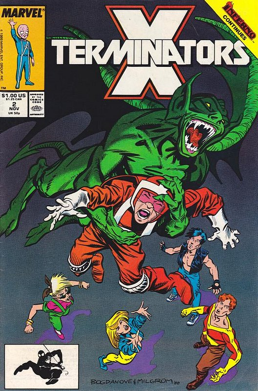 Cover of X-Terminators (1988 Ltd) #2. One of 250,000 Vintage American Comics on sale from Krypton!