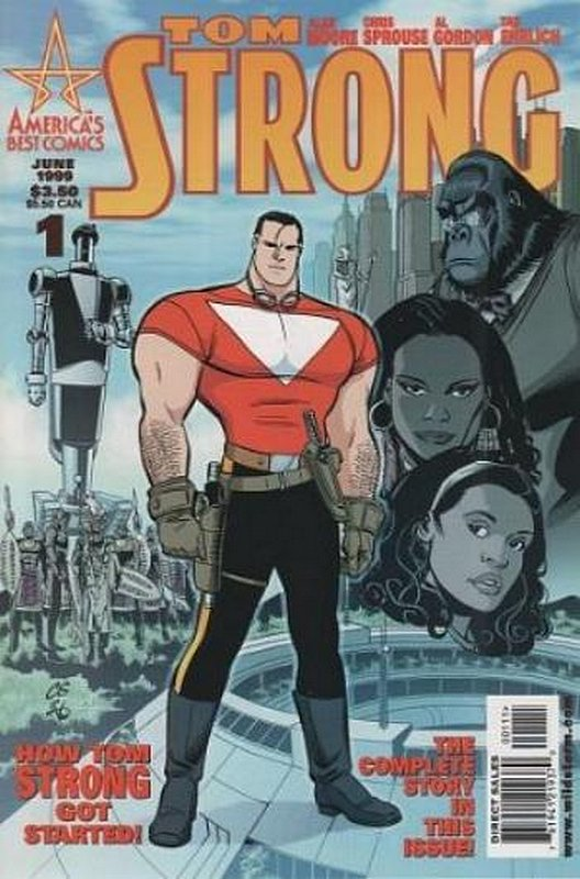 Cover of Tom Strong (Vol 1) #1. One of 250,000 Vintage American Comics on sale from Krypton!