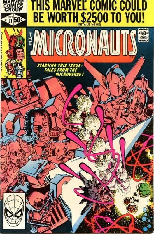 Cover of Micronauts (Vol 1) #21. One of 250,000 Vintage American Comics on sale from Krypton!
