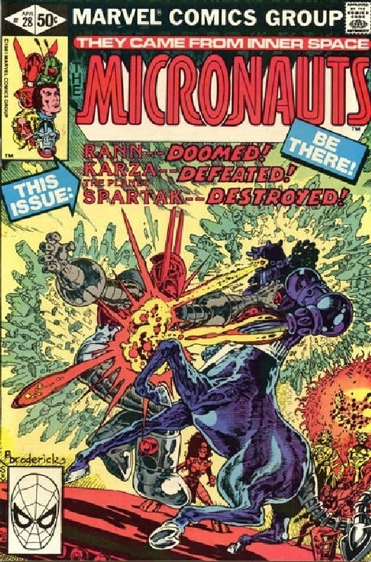 Cover of Micronauts (Vol 1) #28. One of 250,000 Vintage American Comics on sale from Krypton!