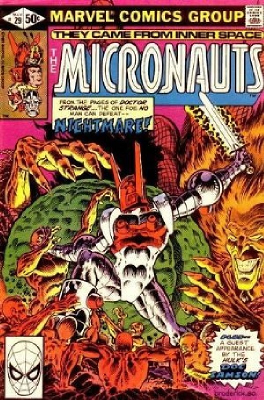 Cover of Micronauts (Vol 1) #29. One of 250,000 Vintage American Comics on sale from Krypton!