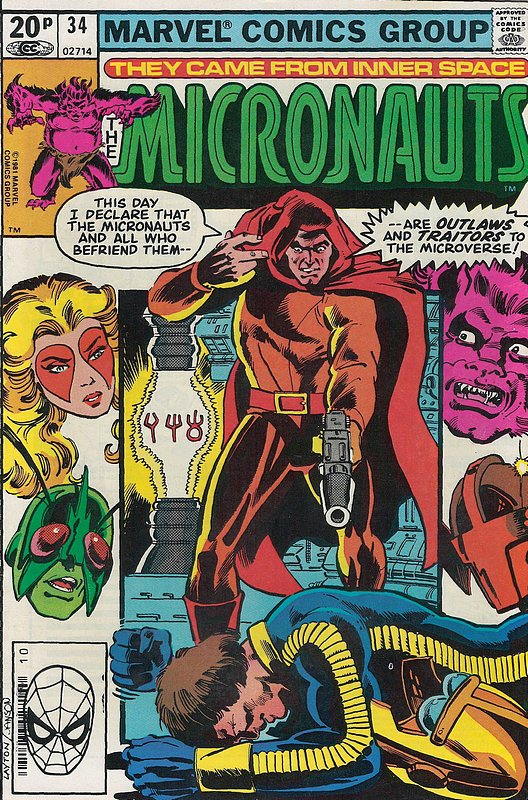Cover of Micronauts (Vol 1) #34. One of 250,000 Vintage American Comics on sale from Krypton!