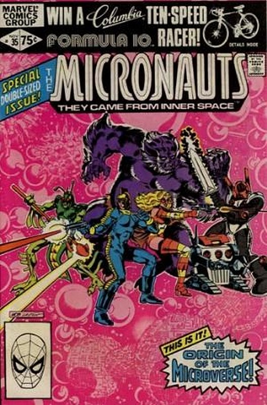 Cover of Micronauts (Vol 1) #35. One of 250,000 Vintage American Comics on sale from Krypton!