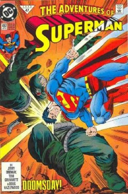 Cover of Adventures of Superman (Vol 1) #497. One of 250,000 Vintage American Comics on sale from Krypton!