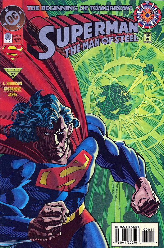 Cover of Superman: Man of Steel (Vol 1) #0. One of 250,000 Vintage American Comics on sale from Krypton!