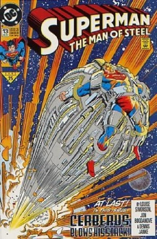Cover of Superman: Man of Steel (Vol 1) #13. One of 250,000 Vintage American Comics on sale from Krypton!