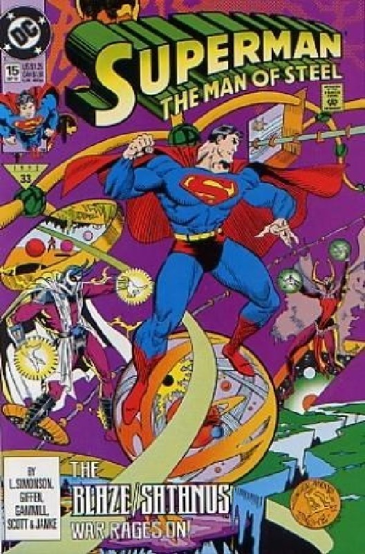 Cover of Superman: Man of Steel (Vol 1) #15. One of 250,000 Vintage American Comics on sale from Krypton!