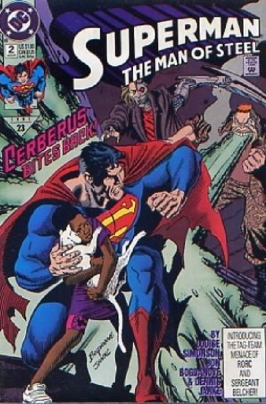 Cover of Superman: Man of Steel (Vol 1) #2. One of 250,000 Vintage American Comics on sale from Krypton!