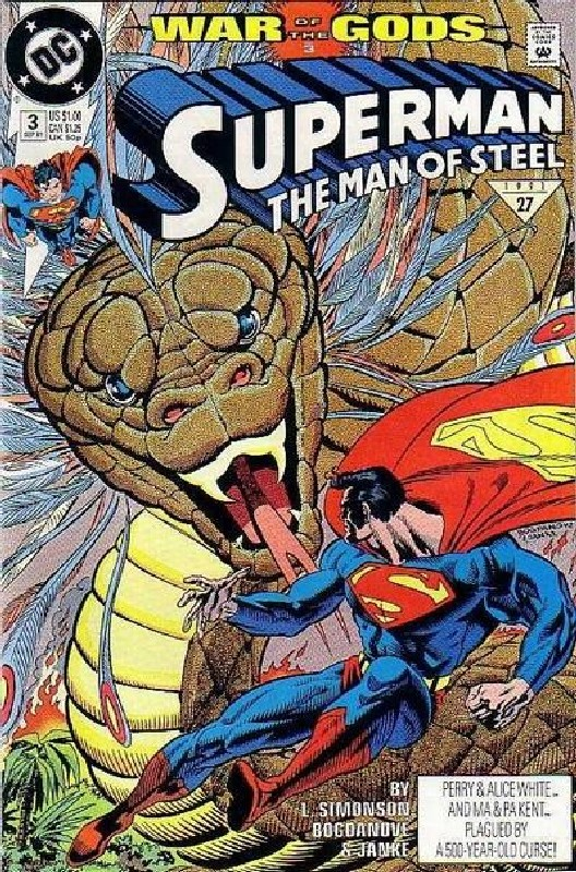 Cover of Superman: Man of Steel (Vol 1) #3. One of 250,000 Vintage American Comics on sale from Krypton!