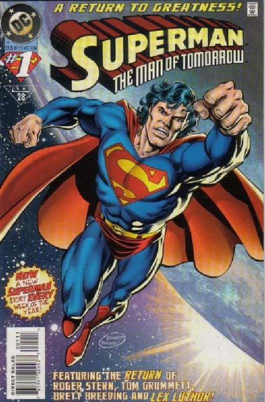 Cover of Superman: Man of Tomorrow (Vol 1) #1. One of 250,000 Vintage American Comics on sale from Krypton!