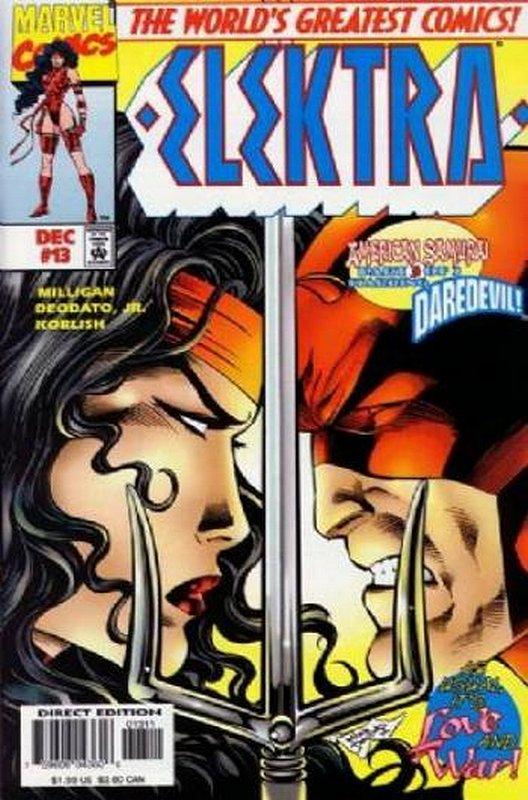 Cover of Elektra (Vol 1) #13. One of 250,000 Vintage American Comics on sale from Krypton!