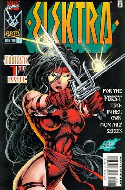 Cover of Elektra (Vol 1) #1. One of 250,000 Vintage American Comics on sale from Krypton!