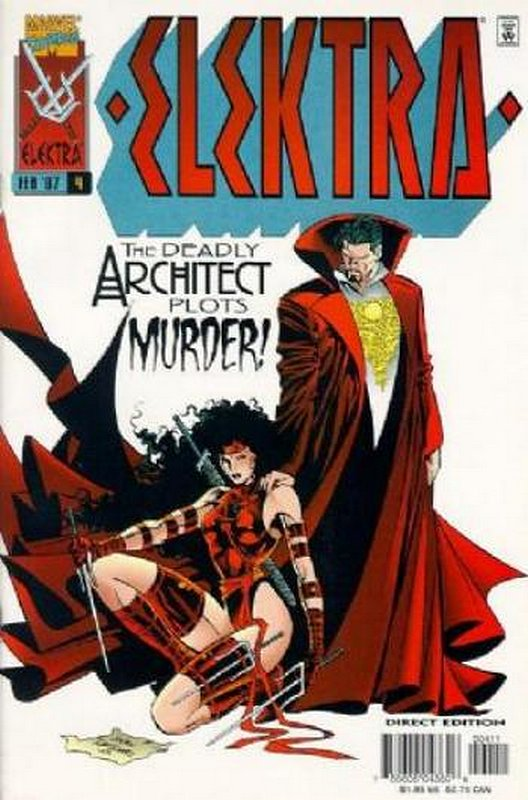 Cover of Elektra (Vol 1) #4. One of 250,000 Vintage American Comics on sale from Krypton!