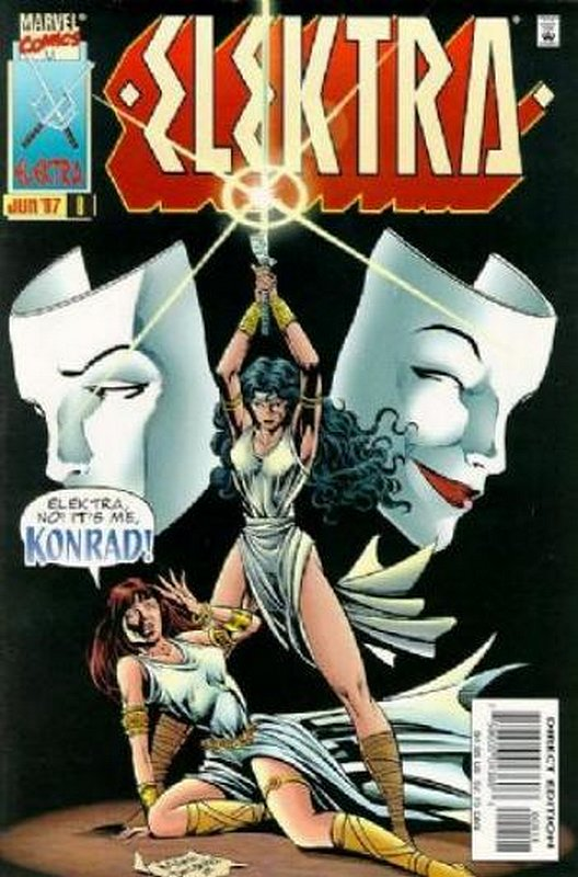 Cover of Elektra (Vol 1) #8. One of 250,000 Vintage American Comics on sale from Krypton!