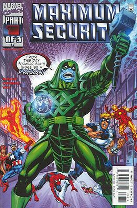 Cover of Maximum Security (2000 Ltd) #1. One of 250,000 Vintage American Comics on sale from Krypton!