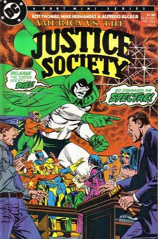 Cover of America vs Justice Society (1985 Ltd) #2. One of 250,000 Vintage American Comics on sale from Krypton!