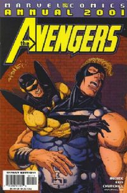 Cover of Avengers 2001 #1. One of 250,000 Vintage American Comics on sale from Krypton!