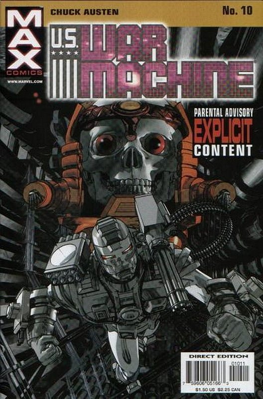 Cover of US War Machine (2001 Ltd) #10. One of 250,000 Vintage American Comics on sale from Krypton!