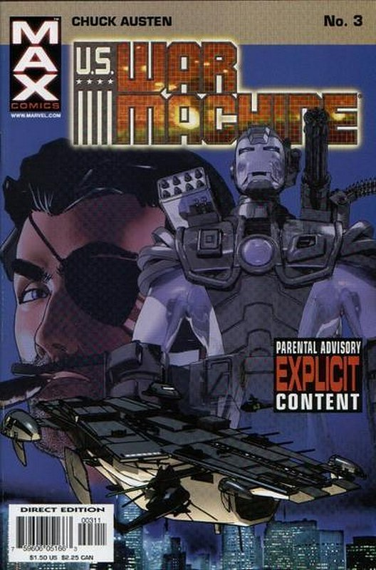 Cover of US War Machine (2001 Ltd) #3. One of 250,000 Vintage American Comics on sale from Krypton!