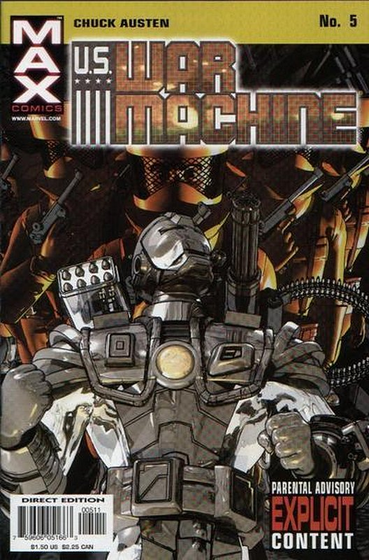 Cover of US War Machine (2001 Ltd) #5. One of 250,000 Vintage American Comics on sale from Krypton!