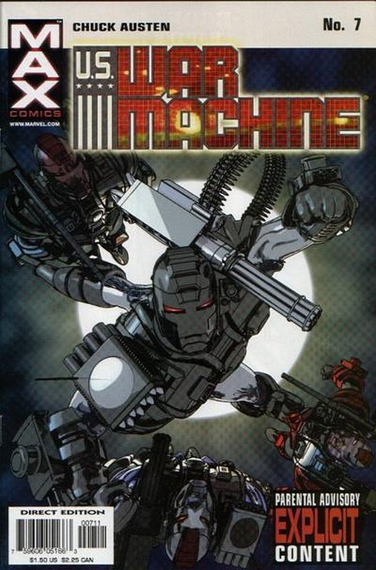 Cover of US War Machine (2001 Ltd) #7. One of 250,000 Vintage American Comics on sale from Krypton!