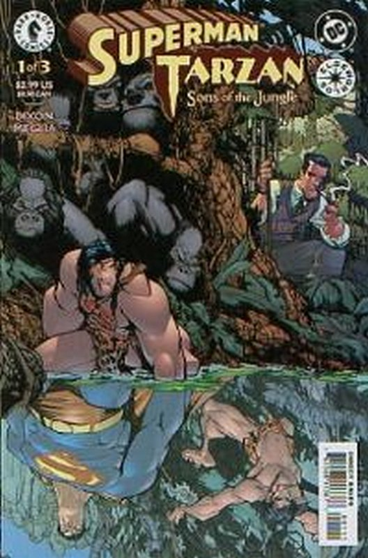 Cover of Superman/Tarzan: Sons of the Jungle (2001 Ltd) #1. One of 250,000 Vintage American Comics on sale from Krypton!