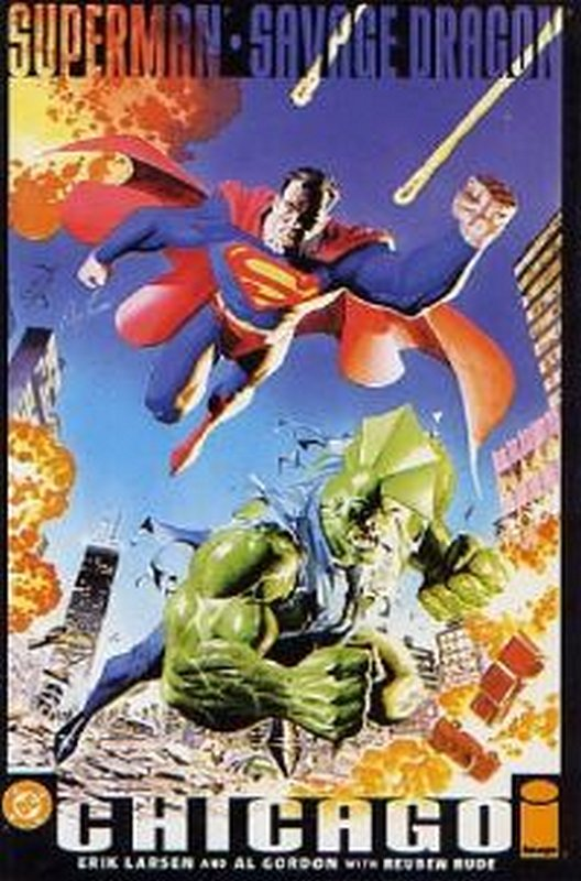 Cover of Superman & Savage Dragon: Chicago #1. One of 250,000 Vintage American Comics on sale from Krypton!