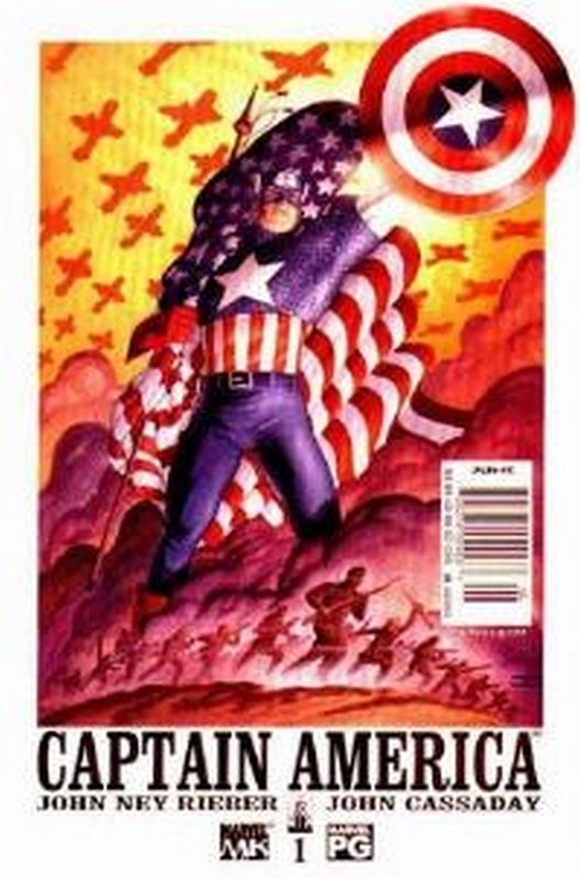 Cover of Captain America (Vol 4) #1. One of 250,000 Vintage American Comics on sale from Krypton!