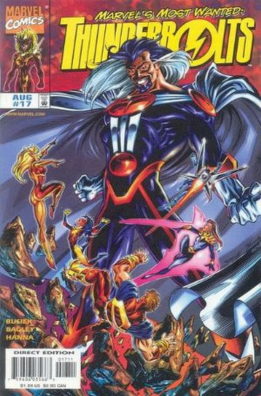 Cover of Thunderbolts (Vol 1) #17. One of 250,000 Vintage American Comics on sale from Krypton!