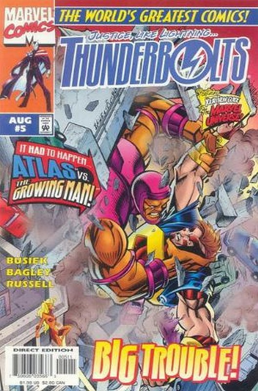 Cover of Thunderbolts (Vol 1) #5. One of 250,000 Vintage American Comics on sale from Krypton!