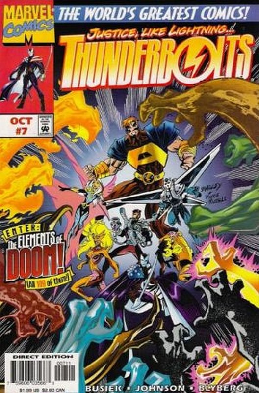 Cover of Thunderbolts (Vol 1) #7. One of 250,000 Vintage American Comics on sale from Krypton!