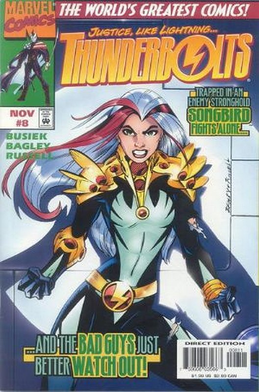 Cover of Thunderbolts (Vol 1) #8. One of 250,000 Vintage American Comics on sale from Krypton!