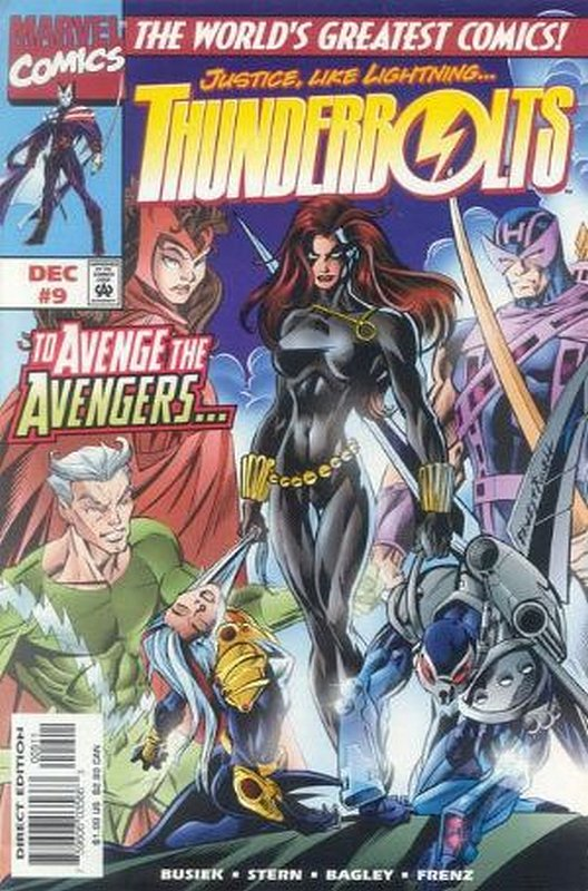 Cover of Thunderbolts (Vol 1) #9. One of 250,000 Vintage American Comics on sale from Krypton!