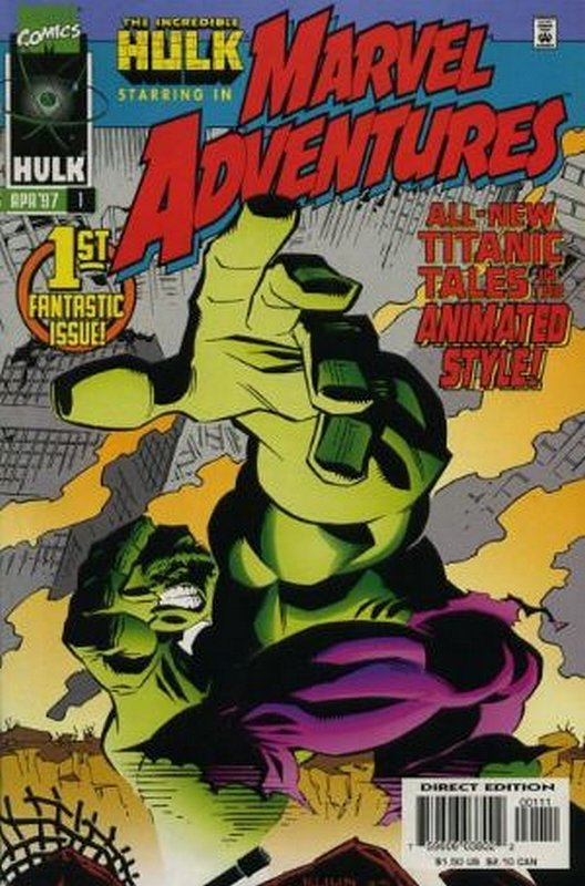 Cover of Marvel Adventures (Vol 1) #1. One of 250,000 Vintage American Comics on sale from Krypton!